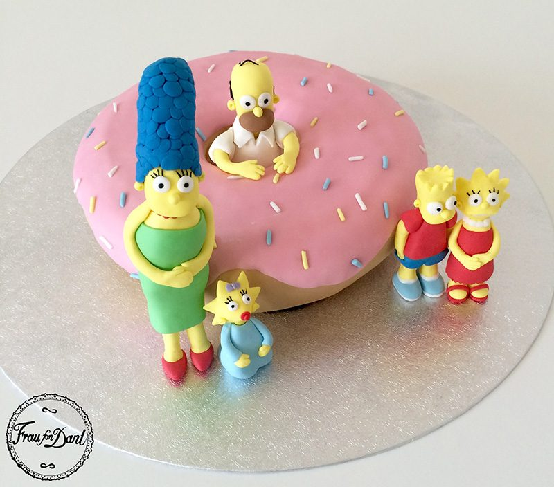 Happy Birthday Maggie Cake Simpsons
